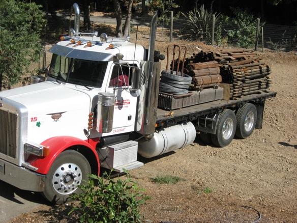 steel on truck
